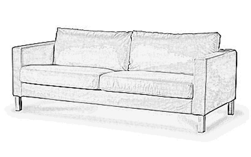 bezug f r karlstad dreier sofa. Black Bedroom Furniture Sets. Home Design Ideas
